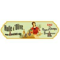 Accroche Torchons métal 3 crochets HUILE D'OLIVE Supérieure déco publicité rétro vintage