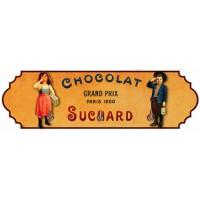Accroche Torchons métal 3 crochets CHOCOLAT SUCHARD déco publicité rétro vintage