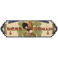 Accroche Torchons métal 3 crochets BIERE GALLIA déco publicité rétro vintage