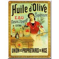 Magnet plaque HUILE D'OLIVE supérieur déco publicité rétro vintage
