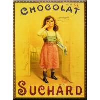 Magnet plaque CHOCOLAT SUCHARD déco publicité rétro vintage