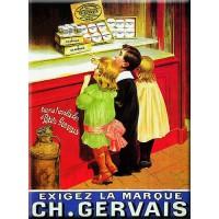 Magnet plaque GERVAIS déco publicité rétro vintage