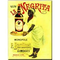 Magnet plaque RHUM LA NEGRITA déco publicité rétro vintage