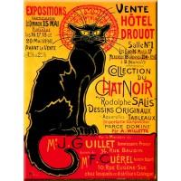 Magnet plaque TOURNÉE DU CHAT NOIR Hôtel Drouot déco affiche rétro vintage