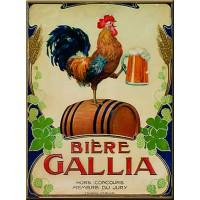 Magnet plaque BIERE GALLIA déco publicité rétro vintage