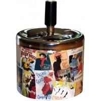 Cendrier poussoir Patchwork Paris déco publicité rétro vintage