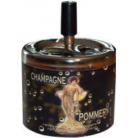 Cendrier poussoir Champagne POMMERY déco publicité rétro vintage