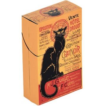 Boîte étuis à cigarettes TOURNÉE DU CHAT NOIR Hôtel Drouot déco affiche rétro vintage