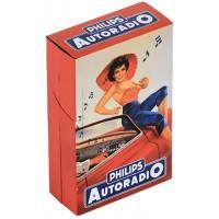 Boîte étuis à cigarettes AUTORADIO PHILIPS déco publicité rétro vintage
