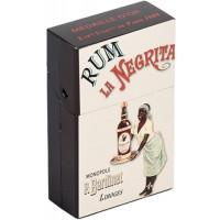 Boîte étuis à cigarettes RHUM LA NÉGRITA déco publicité rétro vintage