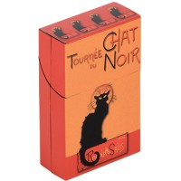 Boîte étuis à cigarettes TOURNÉE DU CHAT NOIR de Rodolphe Salis déco affiche rétro vintage