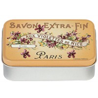 Boîte à savon SAVON EXTRA-FIN AUX VIOLETTES DE NICE déco publicité rétro vintage