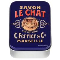 Boîte à savon SAVON LE CHAT déco publicité rétro vintage