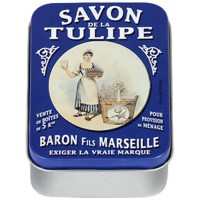 Boîte à savon SAVON DE LA TULIPE déco publicité rétro vintage