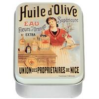 Boîte à savon HUILE D'OLIVE SUPÉRIEURE déco publicité rétro vintage