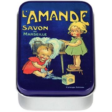 Boîte à savon L'AMANDE Savon de Marseille déco publicité rétro vintage