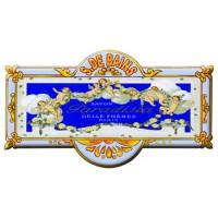 Plaque de porte métal Salle de Bains SAVON PARADISIA déco publicité rétro vintage