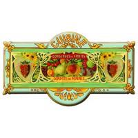 Plaque de porte métal Cuisine CONSERVES DE FRUITS déco publicité rétro vintage