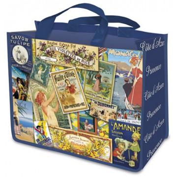 Sac Cabas patchwork PROVENCE déco publicité rétro vintage