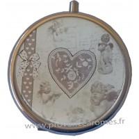 Miroir de poche déco Coeur et Anges