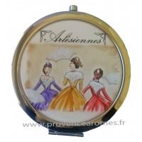 Miroir de poche déco Arlésiennes