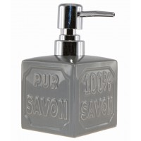 Distributeur de Savon liquide Gris Cube Pur 100% Savon