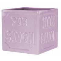 Pot cube céramique lavande PUR 100% SAVON