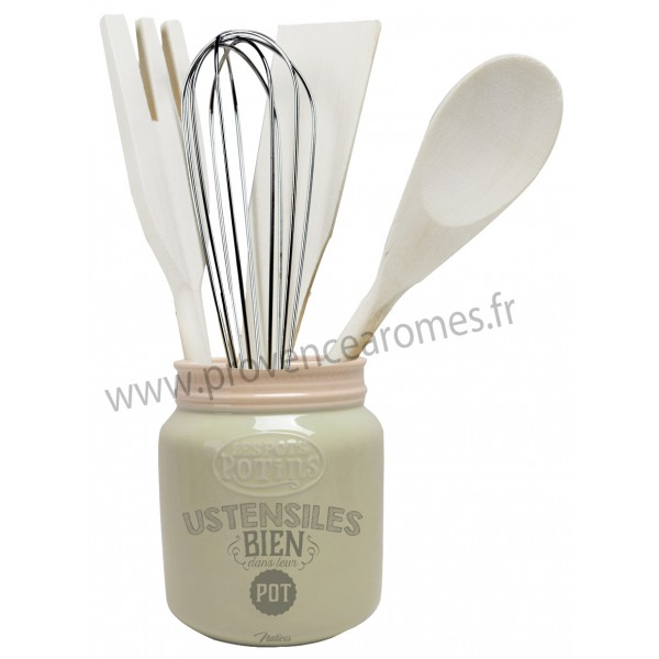 Pot ustensiles pots potins natives d co r tro vintage for Ustensiles de cuisine retro