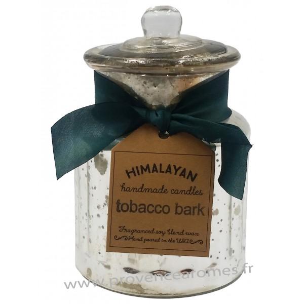 bougie corce de tabac la cire de soja bocal avec couvercle en verre r tro vintage provence. Black Bedroom Furniture Sets. Home Design Ideas