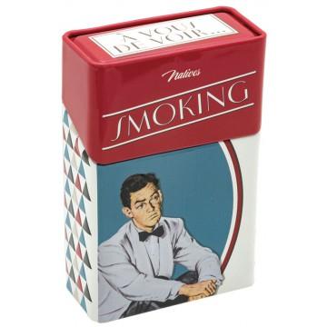 Boîte étuis à cigarettes SMOKING NO SMOKING Natives déco rétro vintage