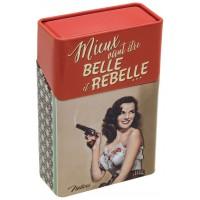 Boîte étuis à cigarettes BELLE et REBELLE Natives déco rétro vintage