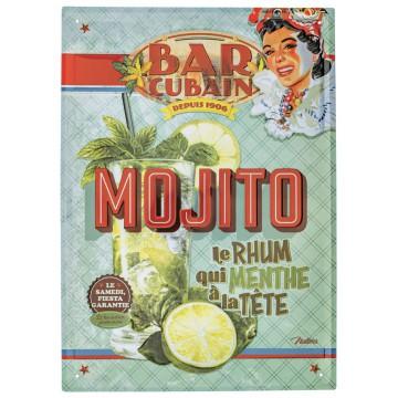 Grande Plaque métal MOJITO Natives déco rétro vintage