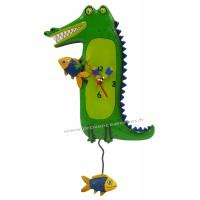 Horloge Alligator à balancier déco vintage Allen designs