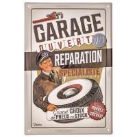 Plaque métal RÉPARATION EXPRESS Natives déco rétro vintage