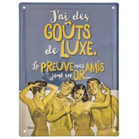 Plaque métal DES AMIS EN OR Natives déco rétro vintage