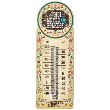 Thermomètre FOLKLO Natives déco rétro vintage