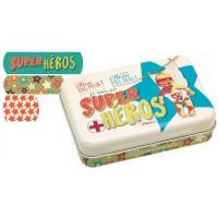 Boîte de pansements SUPER HÉROS Natives déco rétro vintage humoristique