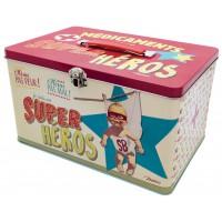 Boîte à médicaments SUPER HÉROS Natives déco rétro vintage