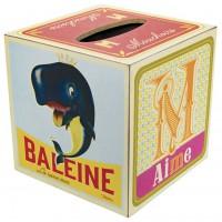 Boîte à mouchoirs en bois CUBE DE JEUX Natives déco rétro vintage