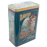 Boîte à croquettes CHAT DAVID CROQUETTES Natives déco rétro vintage