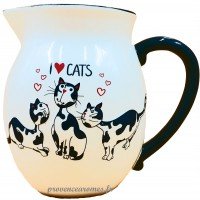 Pichet/Carafe J'AIME LES CHATS collection Love cats