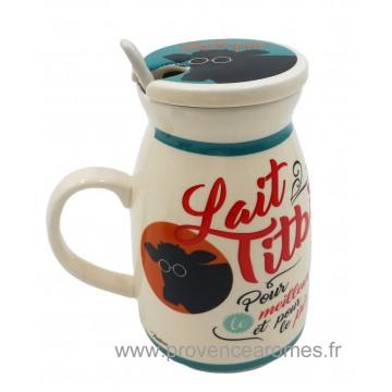 Mug LAIT TITBI Natives déco rétro vintage