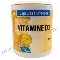 Capsules huileuses VITAMINE D3 Phytofrance