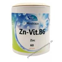 Zn – Vit.B6 (Zinc + Vitamine B6) gélules végétales minéraux - Phytofrance Euro Santé Diffusion