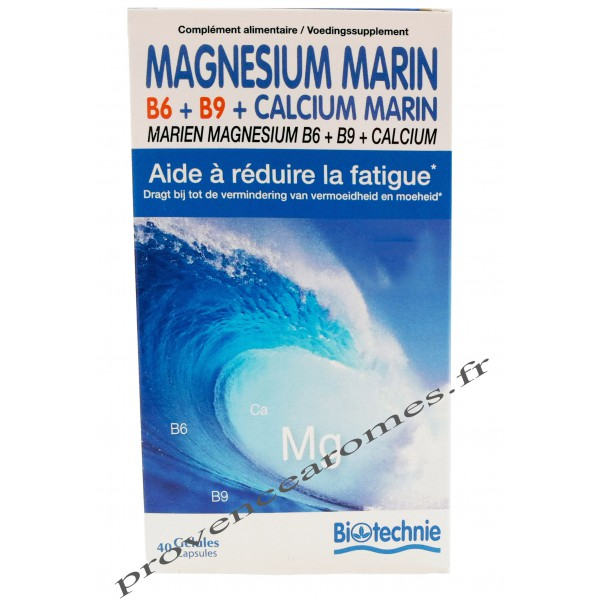 magn sium marin b6 b9 calcium contre la fatigue biotechnie provence ar mes tendance sud. Black Bedroom Furniture Sets. Home Design Ideas