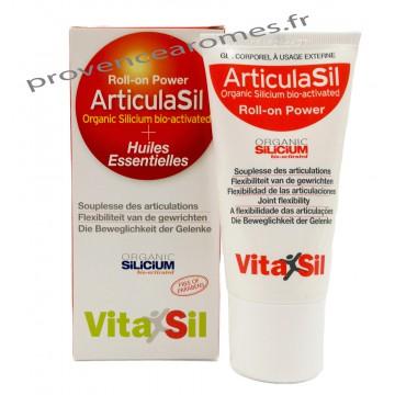 Roll-on Power GEL ARTICULASIL SILICIUM BIO ACTIVÉ + Huiles essentielles Vitasil 50 ml