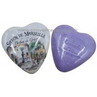 Boîte en forme de cœur déco Fontaine Provençale et son savon lavande