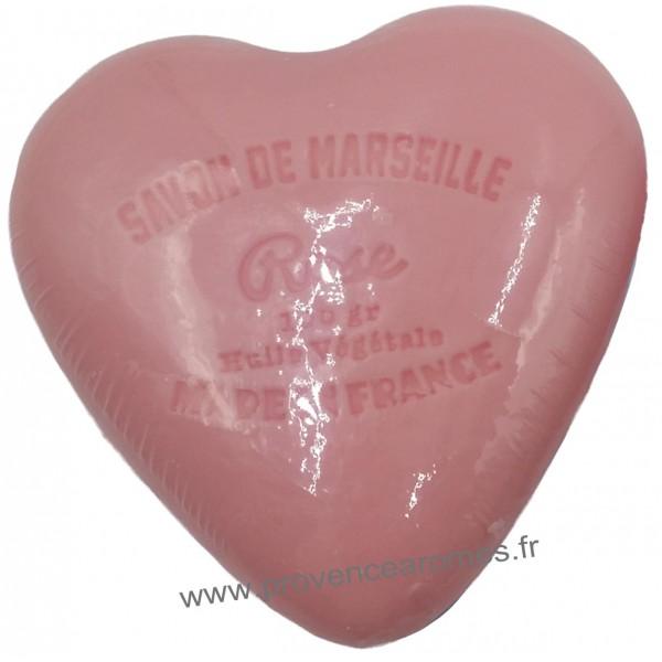 Bo te en forme de c ur d co ange et son savon rose provence ar mes tendance - Deco en forme de coeur ...