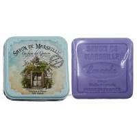 Boîte carrée déco Porte provençale et son savon lavande