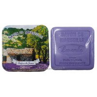 Boîte carrée déco Mas provençal et son savon lavande